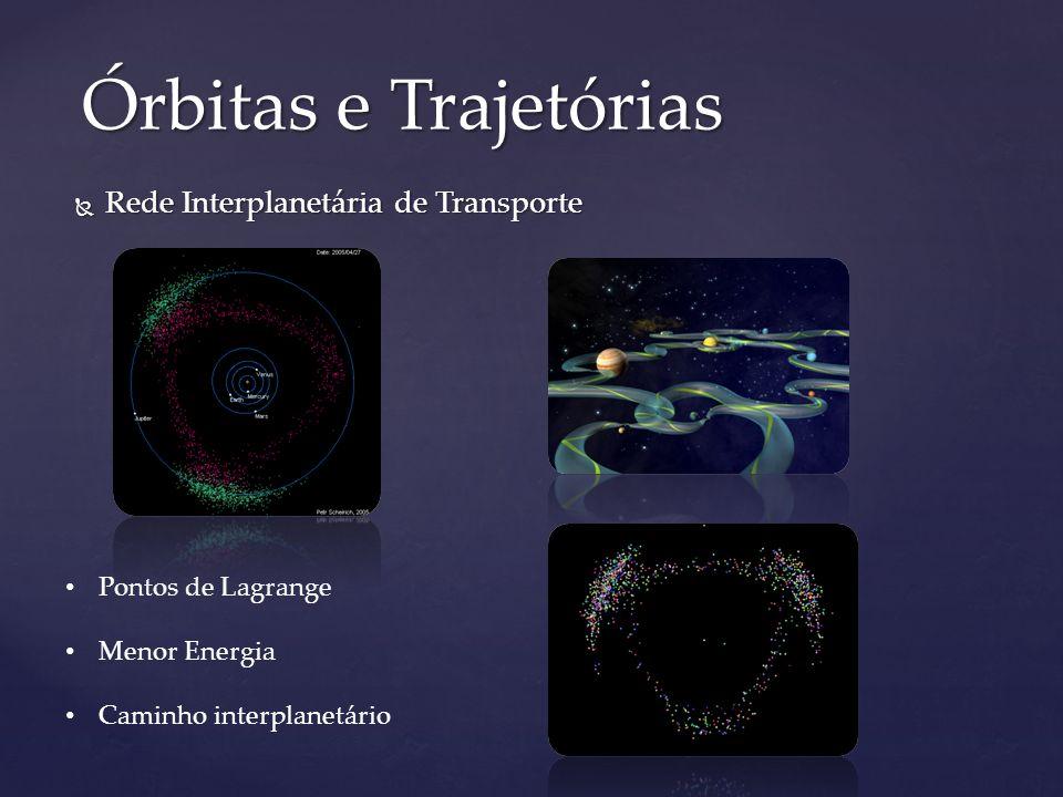 Rede Interplanetária de Transporte Rede Interplanetária de Transporte Órbitas e Trajetórias Pontos de Lagrange Menor Energia Caminho interplanetário