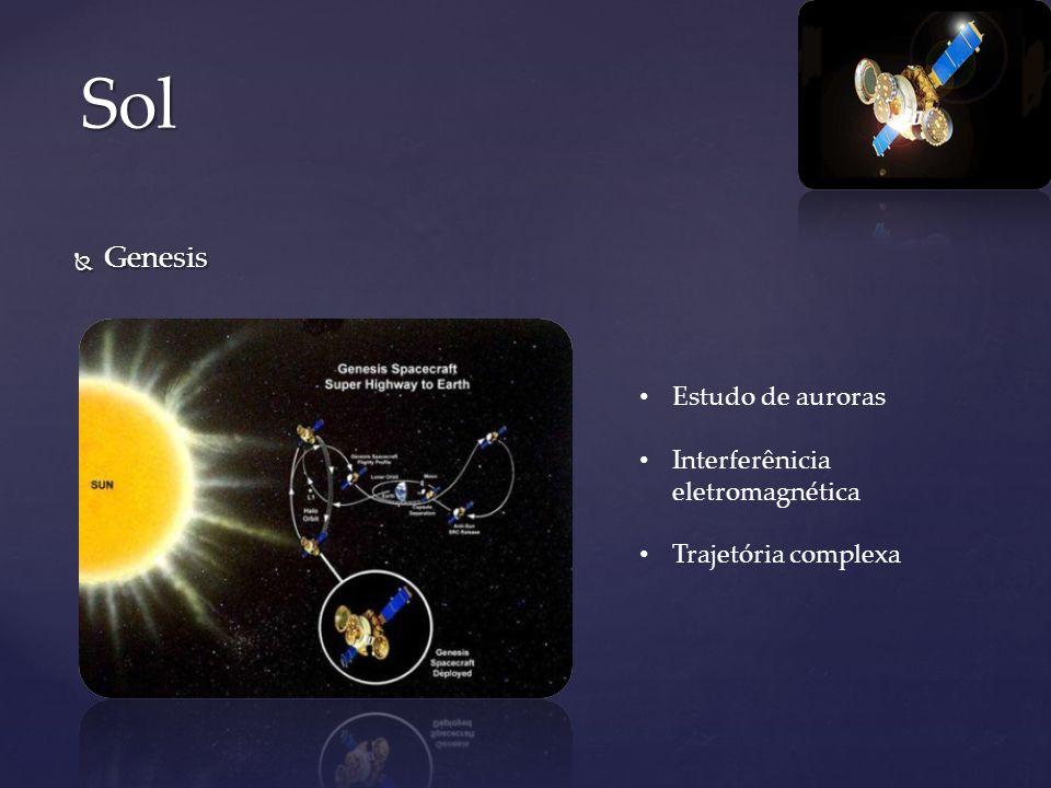 Genesis Genesis Sol Estudo de auroras Interferênicia eletromagnética Trajetória complexa