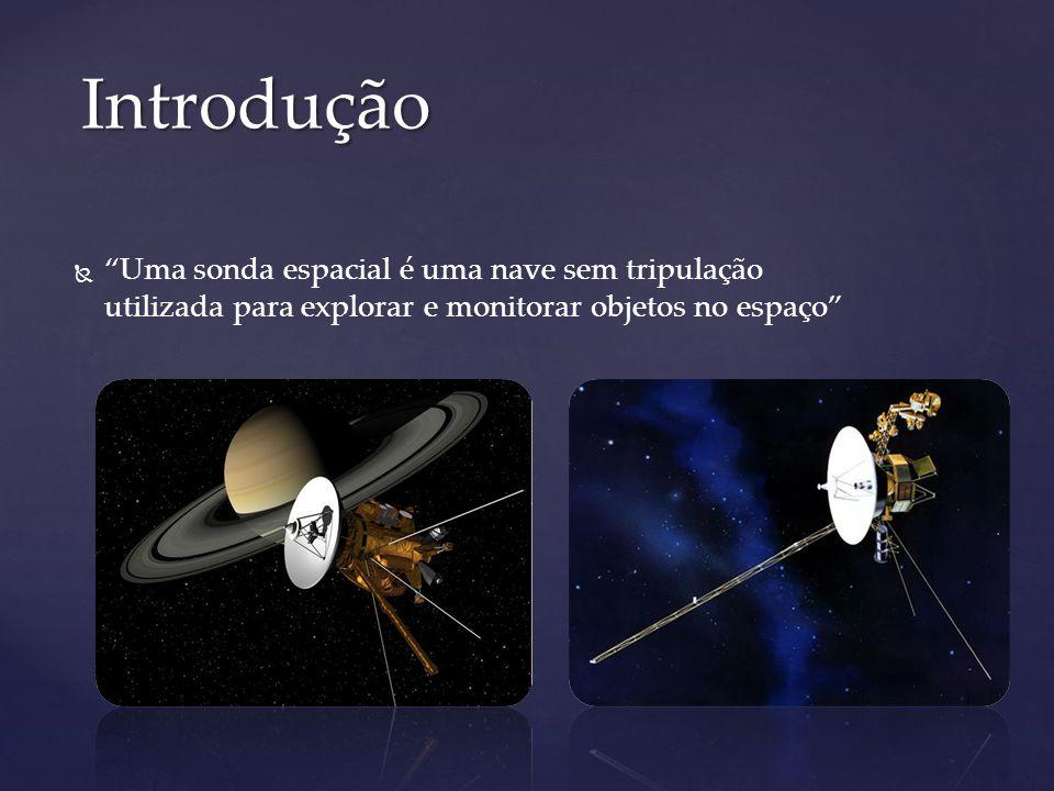 Uma sonda espacial é uma nave sem tripulação utilizada para explorar e monitorar objetos no espaço Introdução