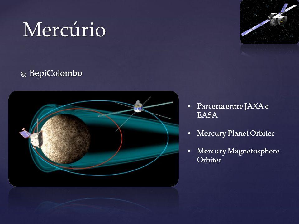 BepiColombo BepiColombo Mercúrio Parceria entre JAXA e EASA Mercury Planet Orbiter Mercury Magnetosphere Orbiter