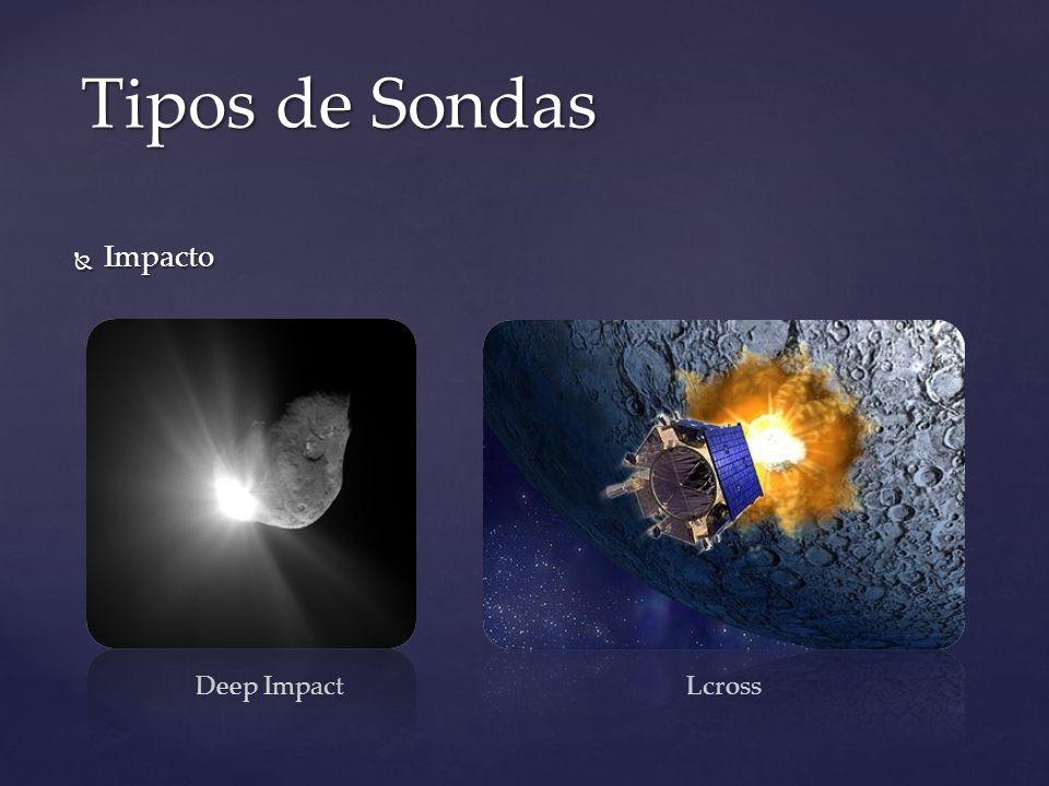 Impacto Impacto Tipos de Sondas Deep ImpactLcross
