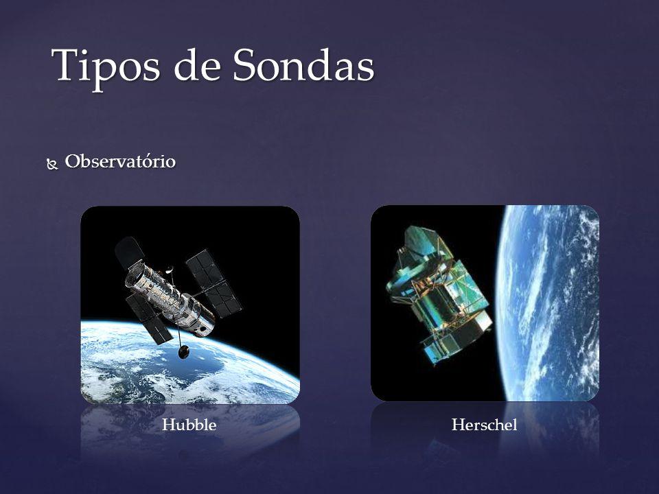 Observatório Observatório Tipos de Sondas Hubble Herschel