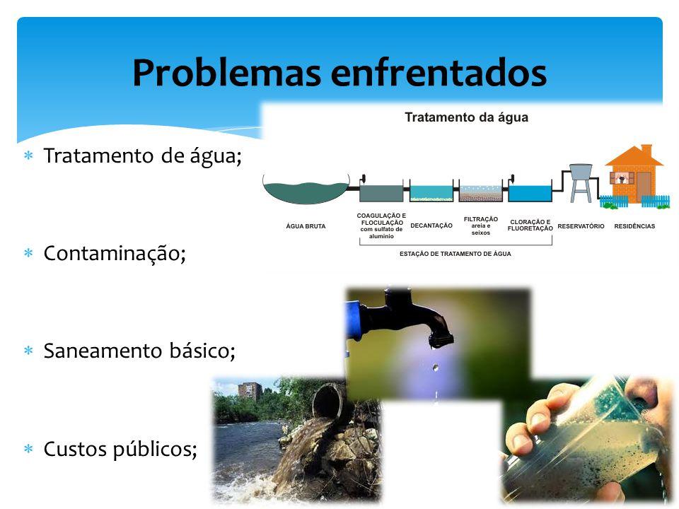 Tratamento de água; Contaminação; Saneamento básico; Custos públicos; Problemas enfrentados