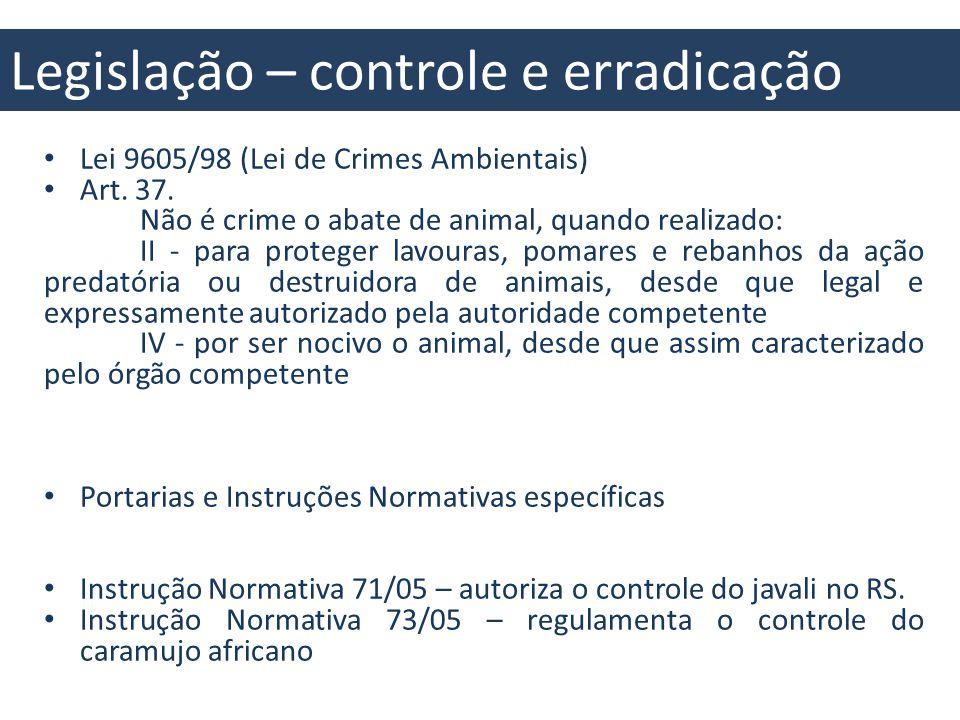 Legislação – conhecimento e monitoramento Decreto 4339/02 (implementação da Política Nacional de Biodiversidade) 10.1.8.