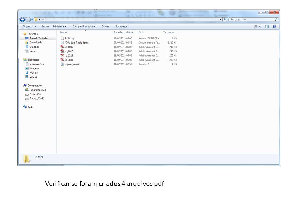 Verificar se foram criados 4 arquivos pdf