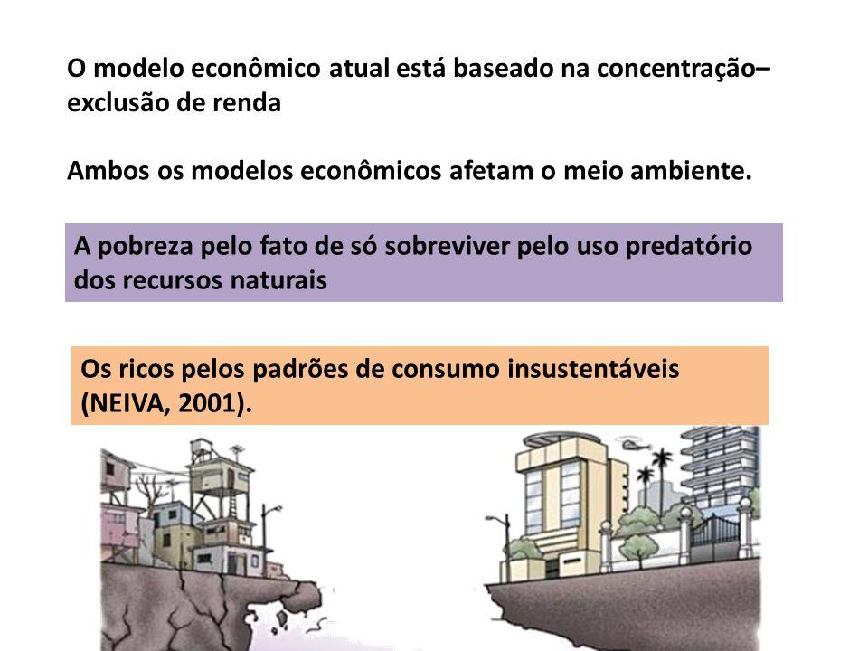 Os ricos pelos padrões de consumo insustentáveis (NEIVA, 2001).