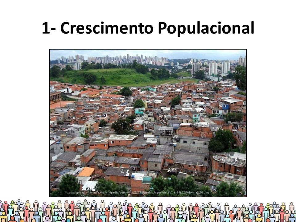 Crescimento populacional de 1960 até 2050 Para 2050, segundo dados da ONU (2013), pode-se chegar a 10 bilhões de pessoas.
