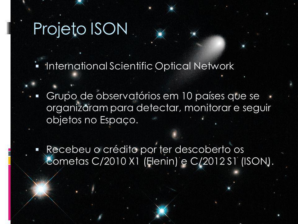 Projeto ISON International Scientific Optical Network Grupo de observatórios em 10 países que se organizaram para detectar, monitorar e seguir objetos