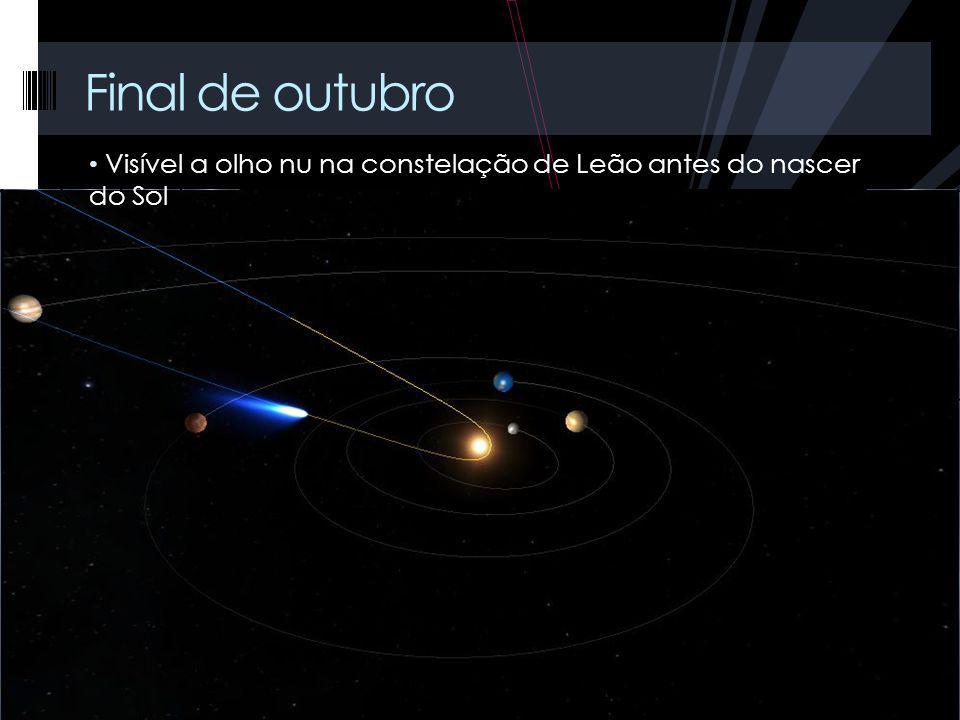 Visível a olho nu na constelação de Leão antes do nascer do Sol Final de outubro