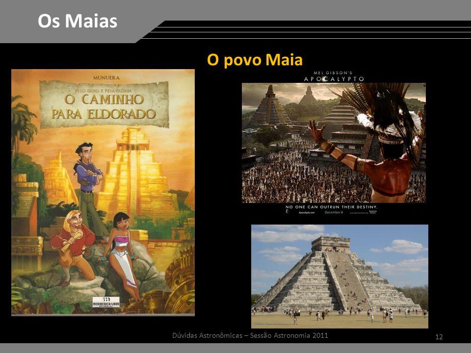 12 Dúvidas Astronômicas – Sessão Astronomia 2011 Os Maias O povo Maia
