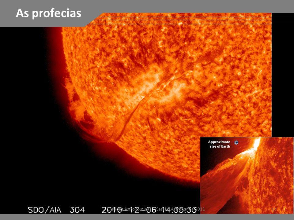 FÁCULAS 17 Dúvidas Astronômicas – Sessão Astronomia 2011 As profecias