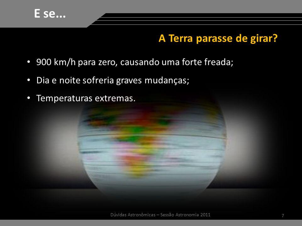 7 Dúvidas Astronômicas – Sessão Astronomia 2011 E se...