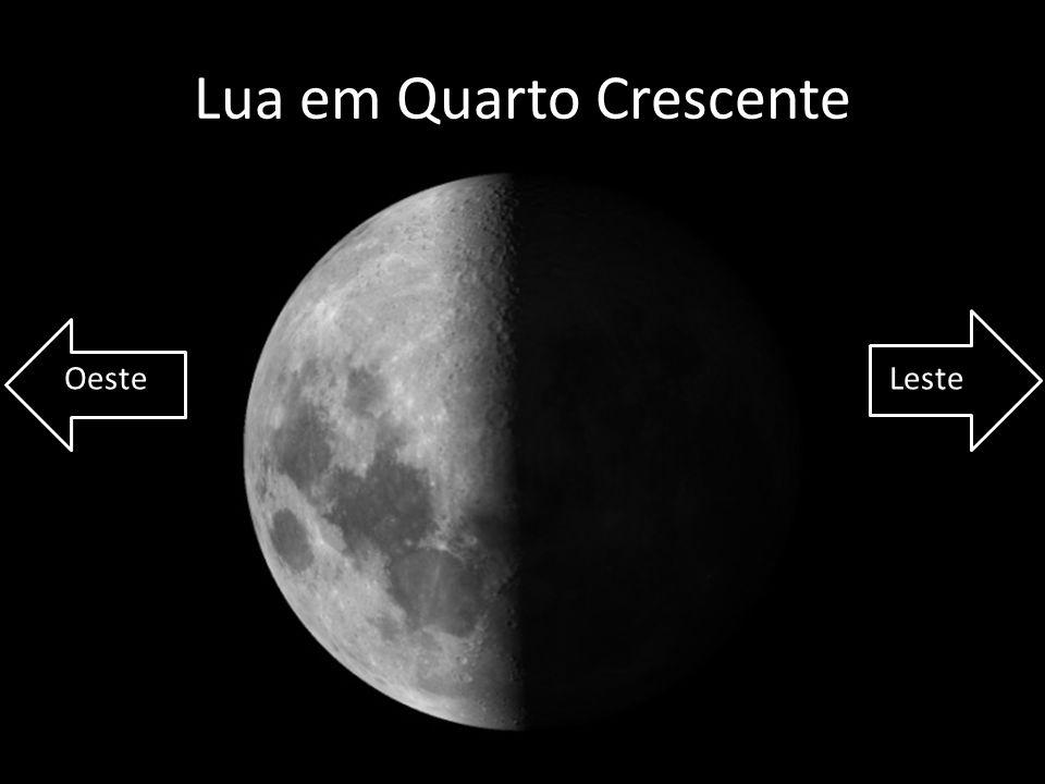 Lua em Quarto Crescente OesteLeste
