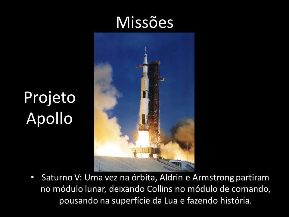 Missões Saturno V: Uma vez na órbita, Aldrin e Armstrong partiram no módulo lunar, deixando Collins no módulo de comando, pousando na superfície da Lua e fazendo história.