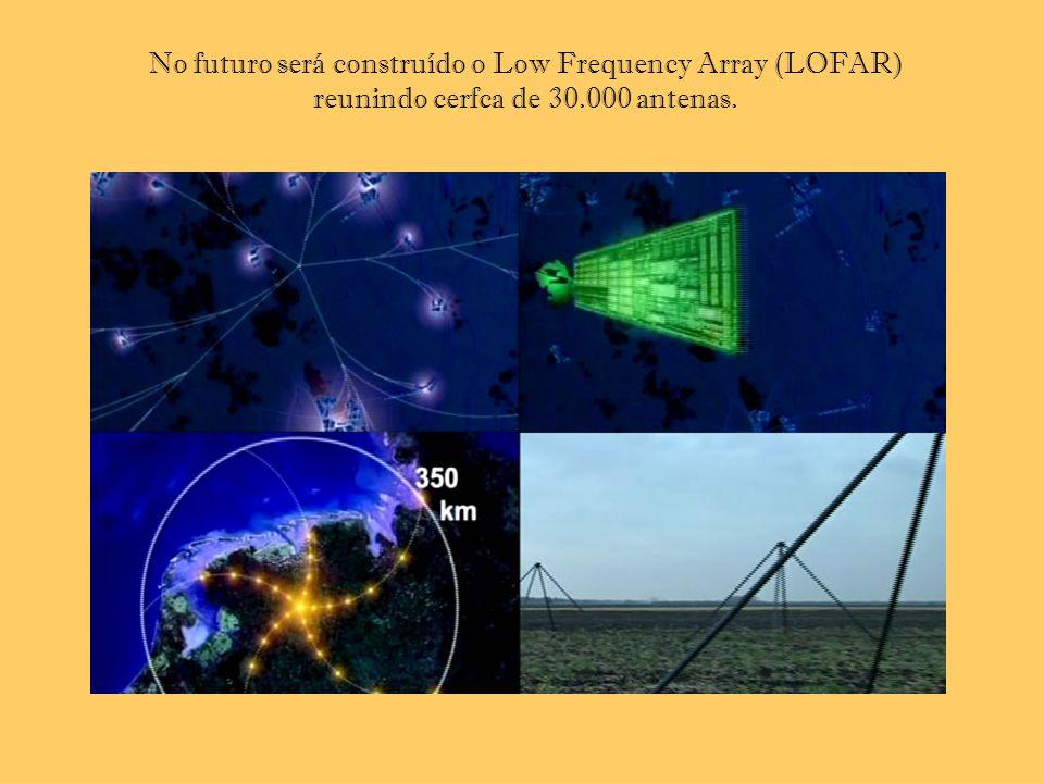 No futuro será construído o Low Frequency Array (LOFAR) reunindo cerfca de 30.000 antenas.