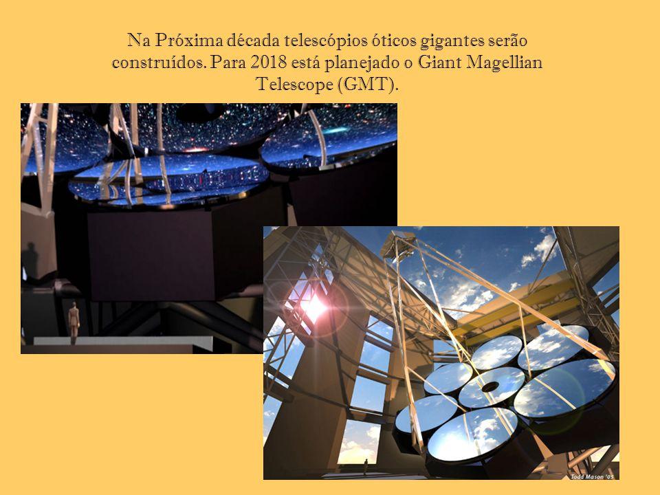 Na Próxima década telescópios óticos gigantes serão construídos. Para 2018 está planejado o Giant Magellian Telescope (GMT).