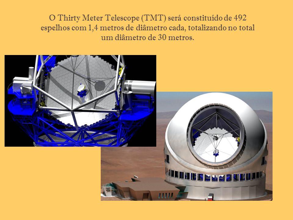O Thirty Meter Telescope (TMT) será constituído de 492 espelhos com 1,4 metros de diâmetro cada, totalizando no total um diâmetro de 30 metros.