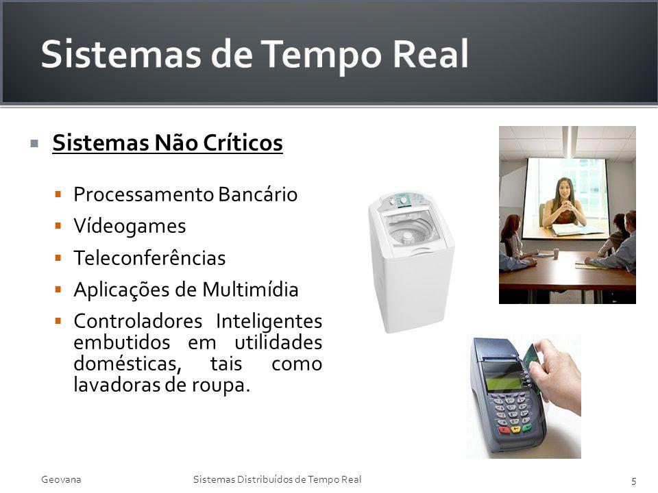 Sistemas Não Críticos Processamento Bancário Vídeogames Teleconferências Aplicações de Multimídia Controladores Inteligentes embutidos em utilidades d