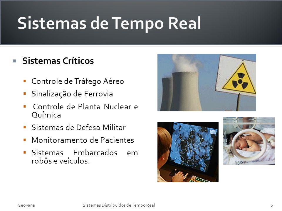 Sistemas Críticos Controle de Tráfego Aéreo Sinalização de Ferrovia Controle de Planta Nuclear e Química Sistemas de Defesa Militar Monitoramento de P