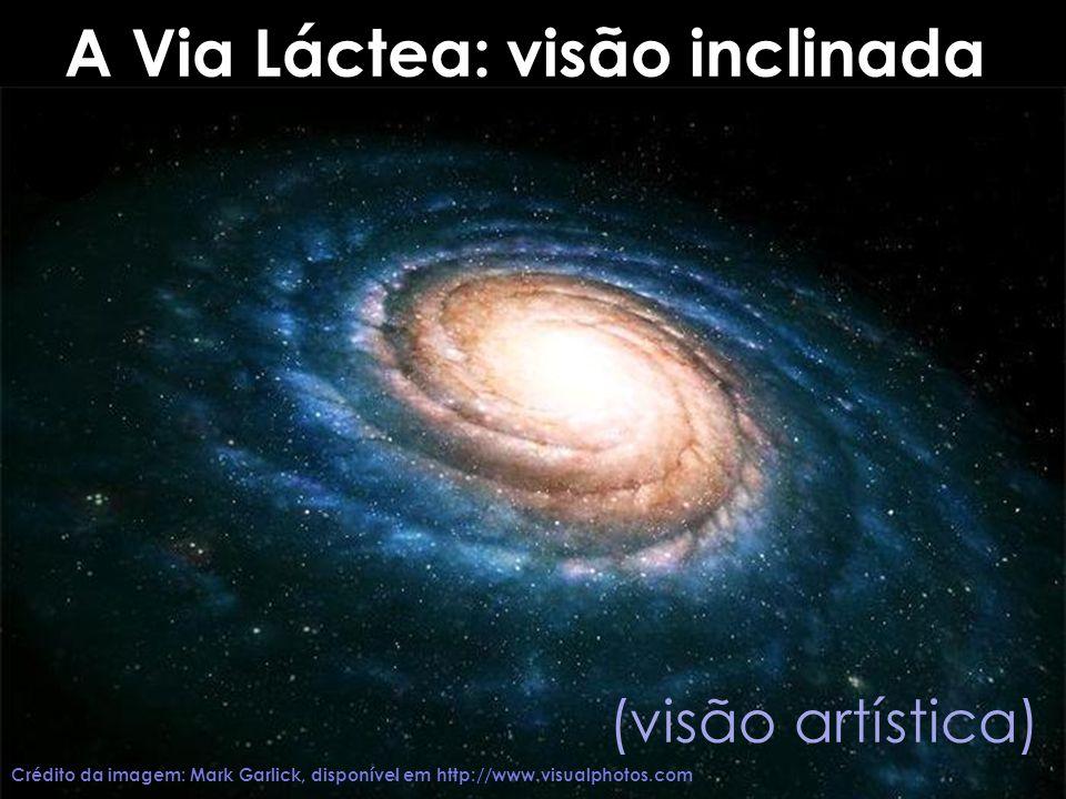 A Via Láctea: visão inclinada (visão artística) Crédito da imagem: Mark Garlick, disponível em http://www.visualphotos.com