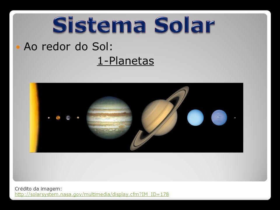 Ao redor do Sol: 1-Planetas Crédito da imagem: http://solarsystem.nasa.gov/multimedia/display.cfm?IM_ID=178 http://solarsystem.nasa.gov/multimedia/dis