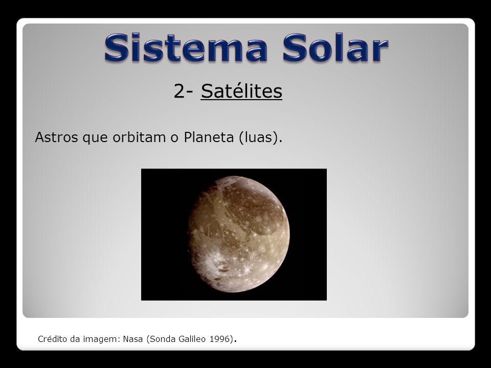 3- Asteroides Objetos rochosos e metálicos que orbitam o Sol.