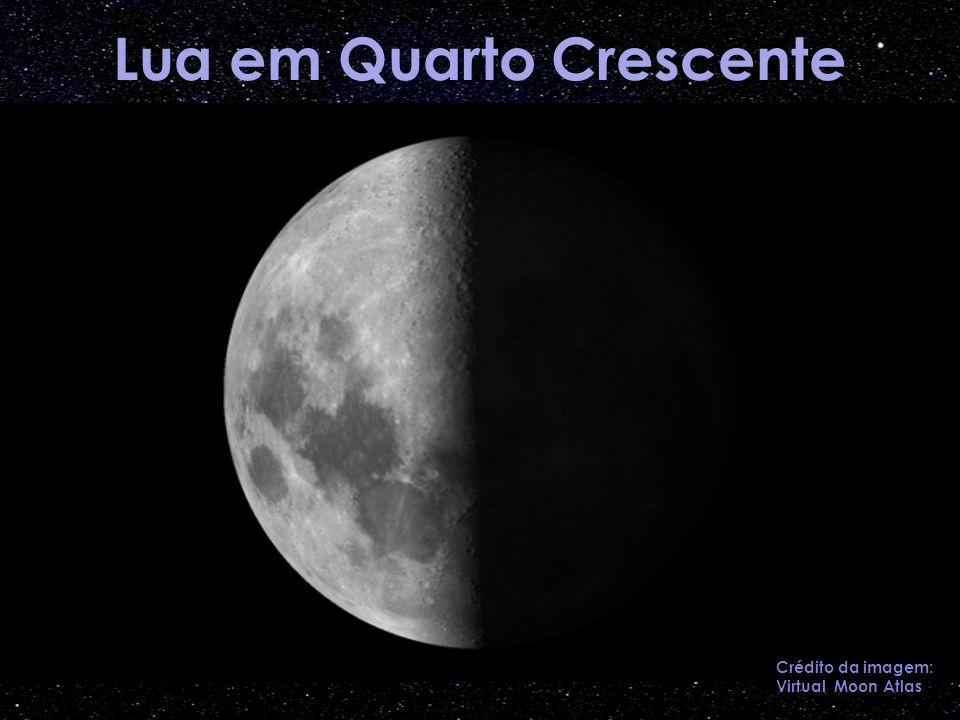 Lua em Quarto Crescente Crédito da imagem: Virtual Moon Atlas