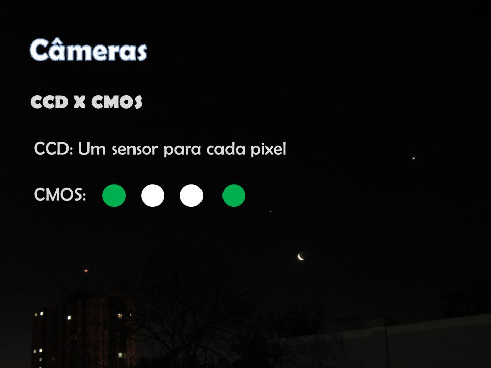 Na falta de um adaptador, usar um tripé Se o telescópio não é motorizado o ideal é utilizar tempo de exposição curto ou filmar