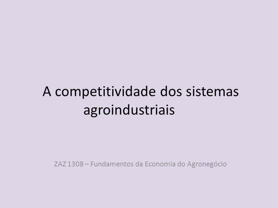 A competitividade dos sistemas agroindustriais ZAZ 1308 – Fundamentos da Economia do Agronegócio