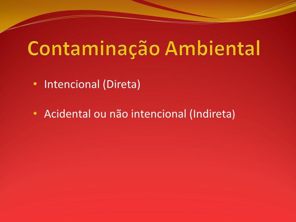 Intencional (Direta) Acidental ou não intencional (Indireta )