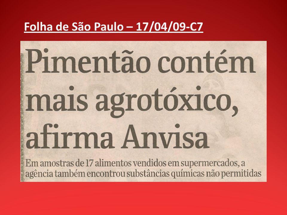 Folha de São Paulo – 17/04/09-C7