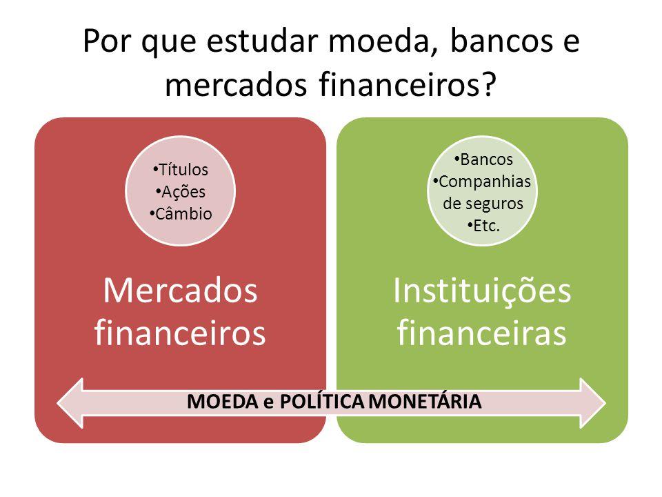 Por que estudar moeda, bancos e mercados financeiros.