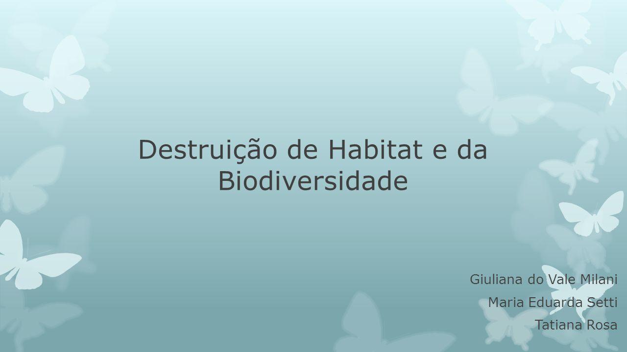 Destruição de Habitat e da Biodiversidade Giuliana do Vale Milani Maria Eduarda Setti Tatiana Rosa