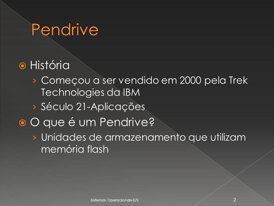 História Começou a ser vendido em 2000 pela Trek Technologies da IBM Século 21-Aplicações O que é um Pendrive.