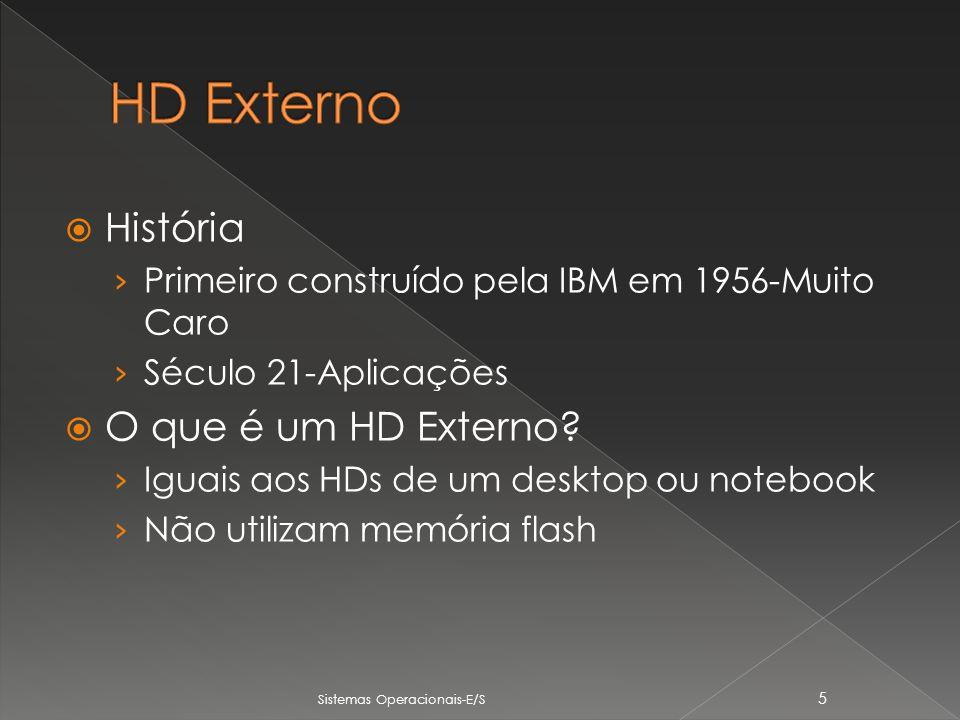 História Primeiro construído pela IBM em 1956-Muito Caro Século 21-Aplicações O que é um HD Externo.