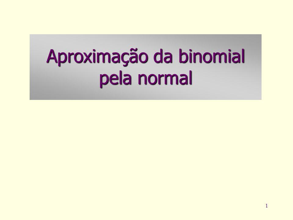 1 Aproximação da binomial pela normal