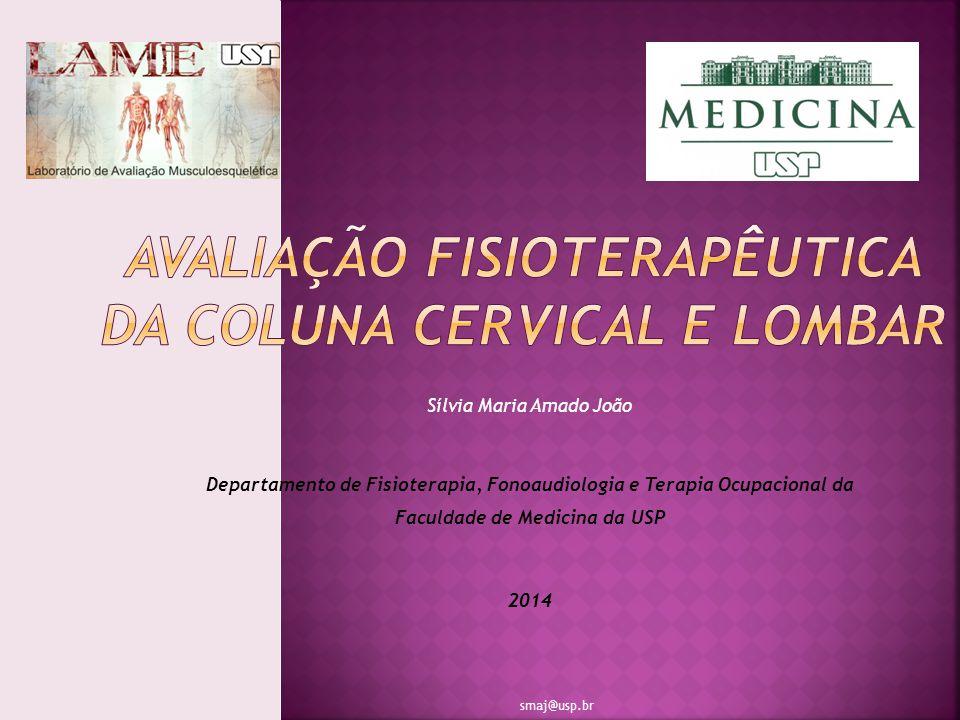 Sílvia Maria Amado João Departamento de Fisioterapia, Fonoaudiologia e Terapia Ocupacional da Faculdade de Medicina da USP 2014 smaj@usp.br