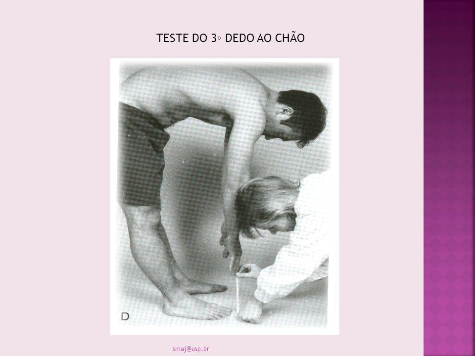 TESTE DO 3 DEDO AO CHÃO