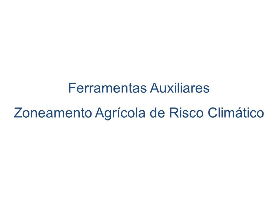 Ferramentas Auxiliares Zoneamento Agrícola de Risco Climático