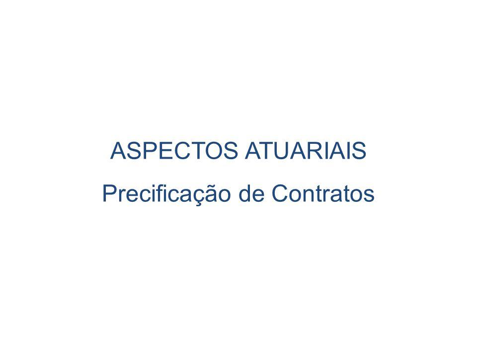 ASPECTOS ATUARIAIS Precificação de Contratos