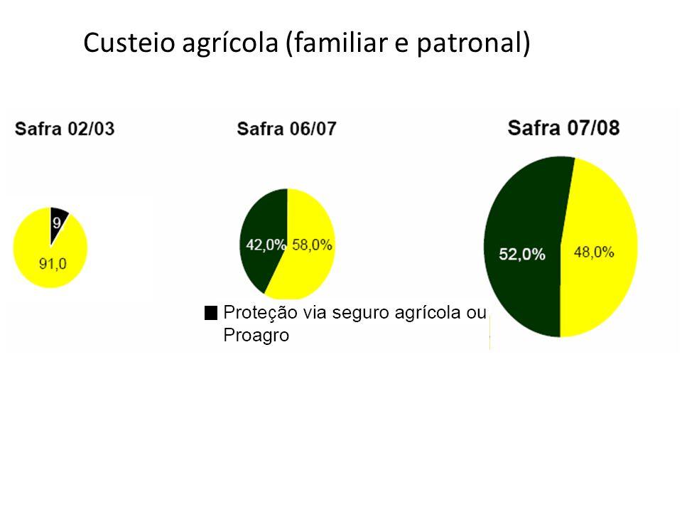 Custeio agrícola (familiar e patronal)