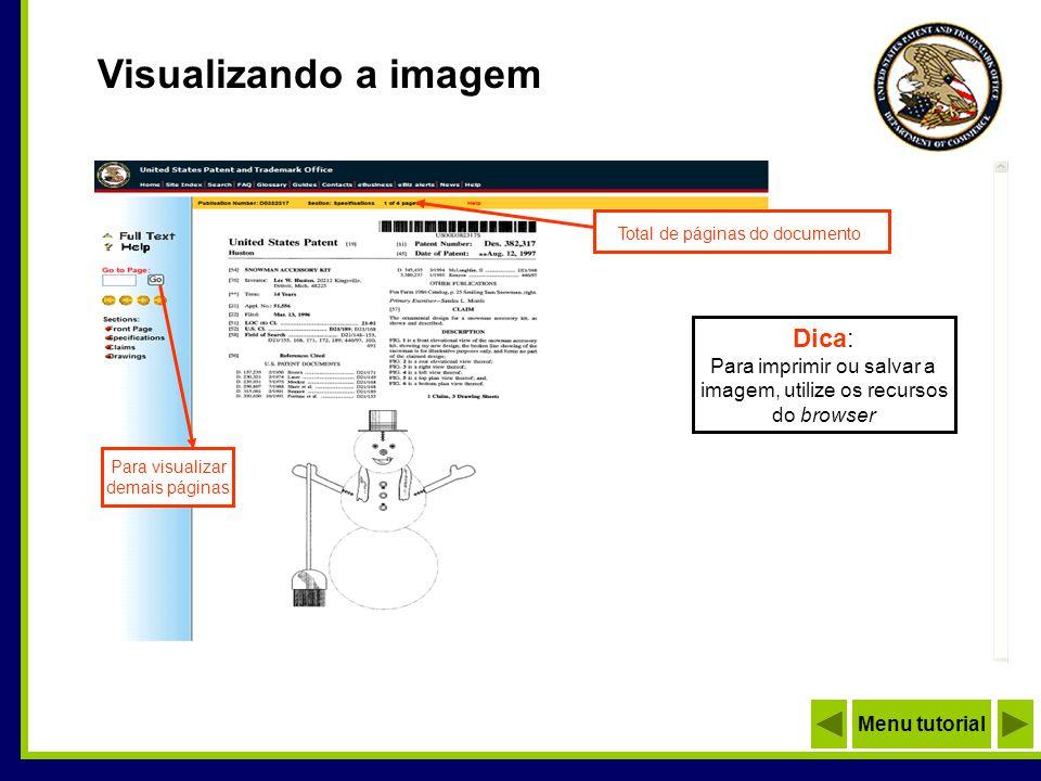 Visualizando a imagem Total de páginas do documento Dica: Para imprimir ou salvar a imagem, utilize os recursos do browser Para visualizar demais pági