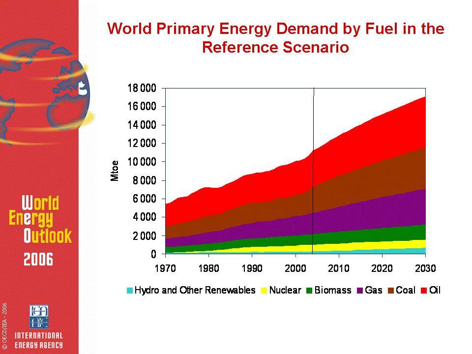 2 Projeções da Matriz Energética Primária no Mundo: World Energy Outlook 2006 (IEA, 2007)