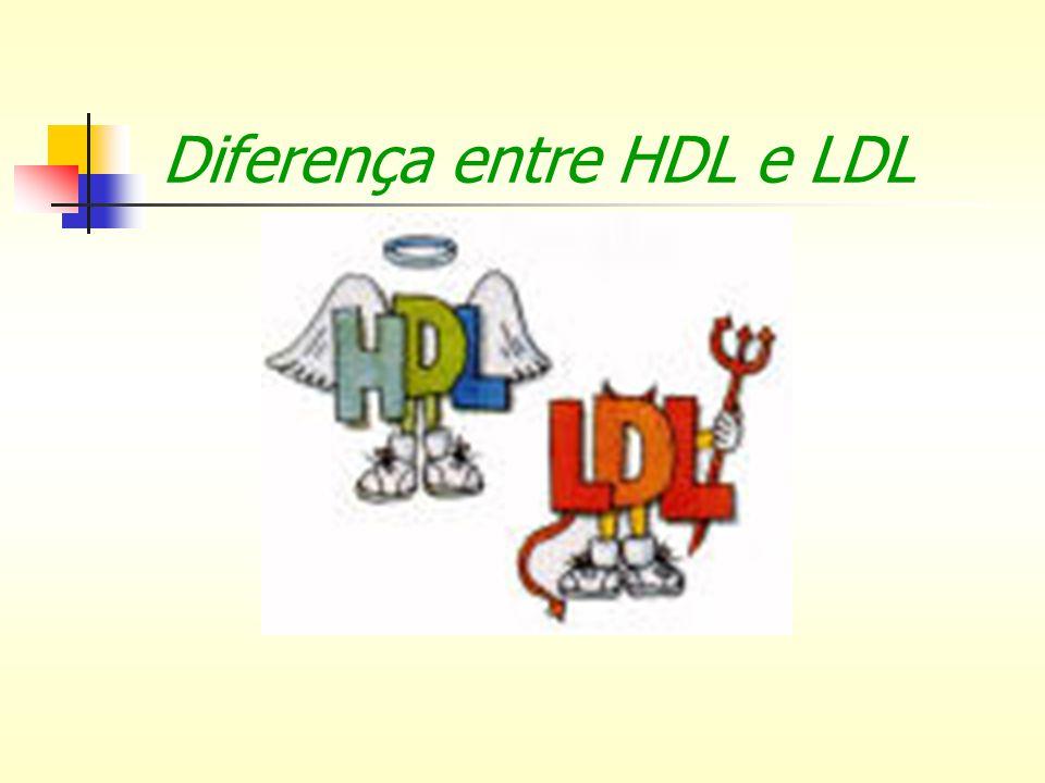 Diferença entre HDL e LDL