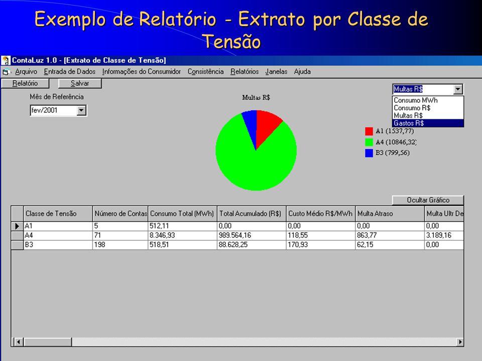 Exemplo de Relatório - Extrato por Classe de Tensão