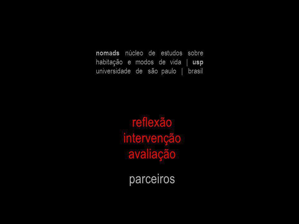 reflexão intervenção avaliação parceiros nomads núcleo de estudos sobre habitação e modos de vida | usp universidade de são paulo | brasil