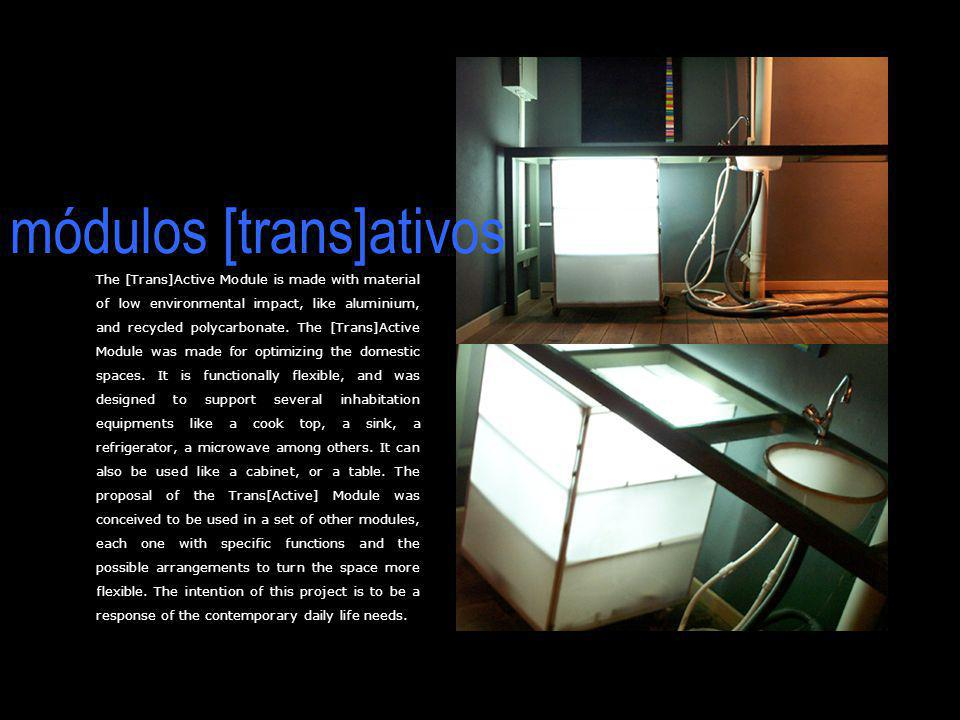 The [Trans]Active Module is made with material of low environmental impact, like aluminium, and recycled polycarbonate. The [Trans]Active Module was m