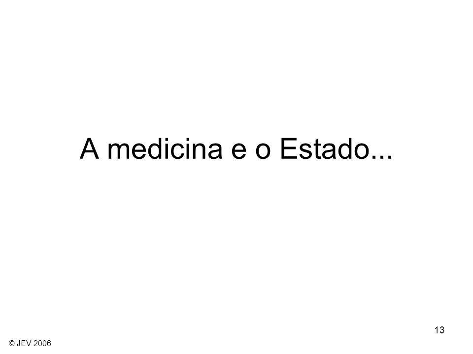 13 A medicina e o Estado... © JEV 2006
