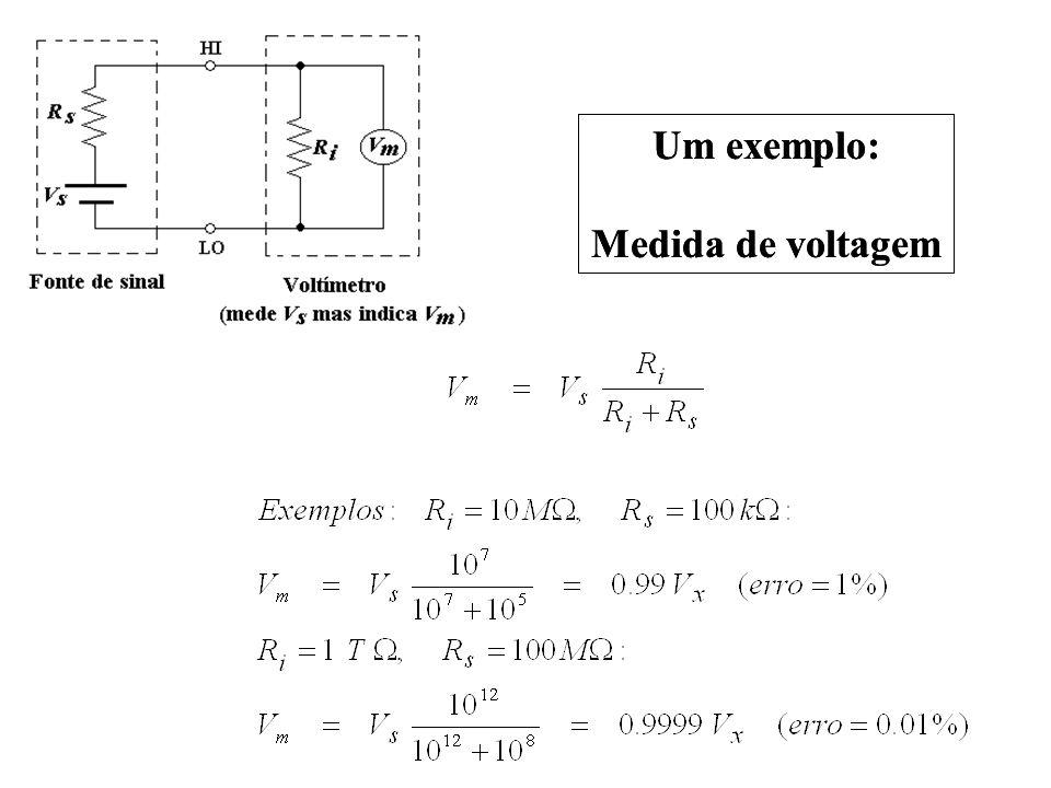 Um exemplo: Medida de voltagem Um exemplo: Medida de voltagem