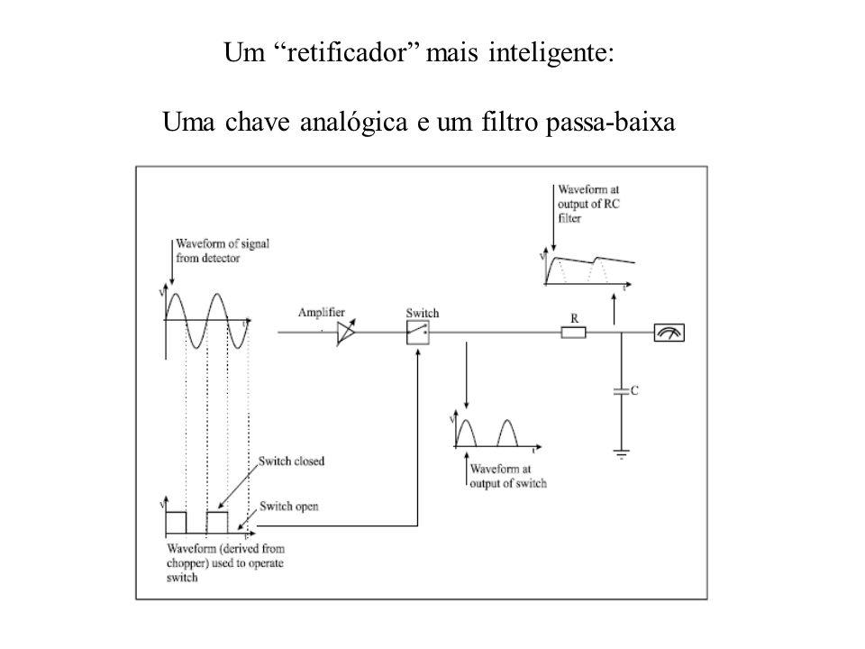Um retificador mais inteligente: Uma chave analógica e um filtro passa-baixa